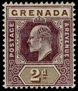 GRENADA SG59, 2d dull purple & brown, LH MINT.