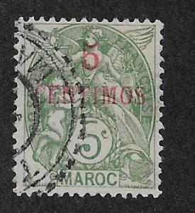 FRENCH MOROCCO SC# 15  F/U    1902