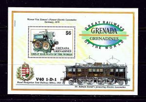 Grenada-Grenadines 1382A MNH 1992 Trains S/S