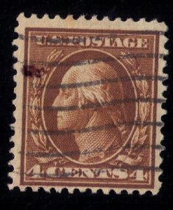 US SCOTT #377 USED DARK BROWN F-VF