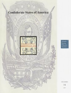 Confederate States of America. 2017 Schuyler Rumsey Auction