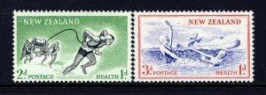 NEW ZEALAND 1957 Health Stamps Set SG 761 & SG 762 MNH