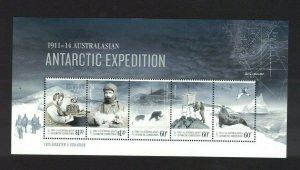 AAT84) Australian Antarctic Territory 2013 Expedition Part III Minisheet MUH