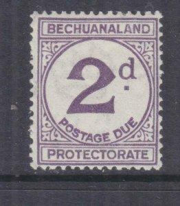 BECHUANALAND, POSTAGE DUE, 1932 ordinary paper 2d. LARGE D, mnh.