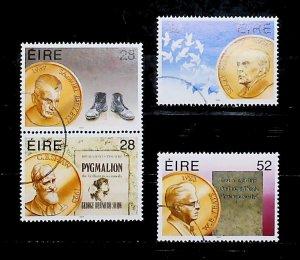 Ireland 1994 Irish Nobel Prize Winners Used Full Set A22P20F9033
