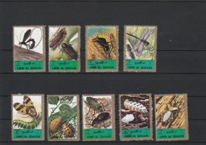 Umm Al Qiwain Various Insects Dragonfly Etc Stamps Ref 24887
