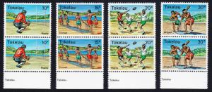 Tokelau Local Sports 4v Pairs with bottom selvages SG#69-72 SC#69-72