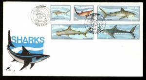 Ciskei 1983 Sharks Fish Marine Life Mammals Wildlife Sc 54-58 FDC # 16397