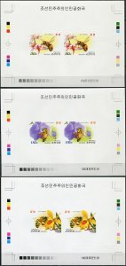 Korea 2013. Bees (MNH OG. Imperforated) Set of 3 Proofs