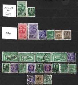 COLLECTION LOT OF # 825 ITALY SOCIAL REPUBLIC 25 STAMPS 1944+ CLEARANCE