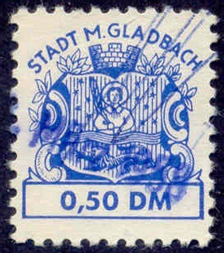 Germany - M. Gladbach 0,50 DM Municipal Revenue Stamp