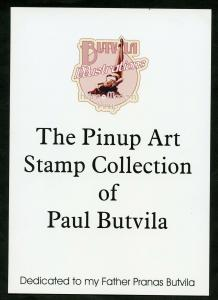 SAO TOME   2019  PINUP ART STAMP COLLECTION OF PAUL BUTVILA DESCRIPTIVE  BOOKLET