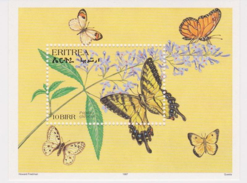 Eritrea - Butterflies & Moths of the World, 1997 - Sc 292 S/S MNH