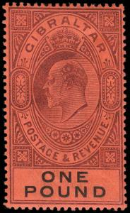 Gibraltar Scott 39-48 Gibbons 46-55 Mint Set of Stamps