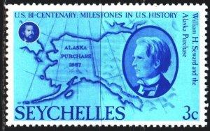 Seychelles. 1976. 377 from the series. Alaska and Sevard. MNH.
