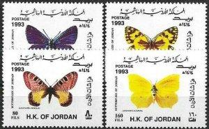 1993 Jordan Butterflies, Farfalle, Papillon, complete set VF/MNH! LOOK!