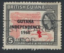 Guyana Independence 1966 SG 388 Used