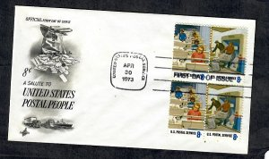 1495 - 1496 Postal People Unaddressed ArtCraft FDC
