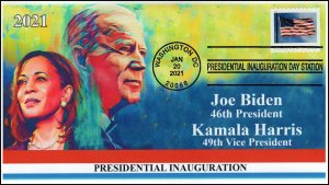 21-015, 2021, Presidential Inauguration, Event Cover, Pictorial Postmark,