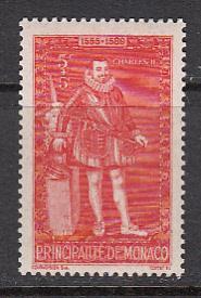 Monaco SC# B62  1942 Charles II S/P MNH