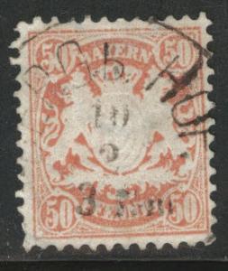 Bavaria German State Scott 44 used 1876 stamp wmk 94