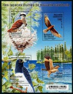 HERRICKSTAMP NEW ISSUES NEW CALEDONIA Hawks Sheetlet of 4