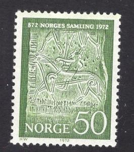 Norway  #586   1972   MNH Norway`s unification  50o