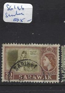 SARAWAK (P1209B)  QEII 20C   SG 196   VFU