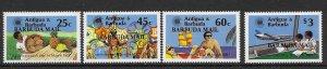 Barbuda 569-72  1983  set 4  VF  NH