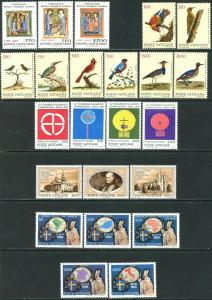VATICAN Sc#826-849 Five Sets & 1 S/s 1989 Year Complete Mint OG NH