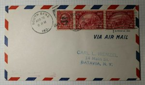 US Sc#615 646 Airmail Event Cover 1929 Air Meet National Race South Bend ID Show