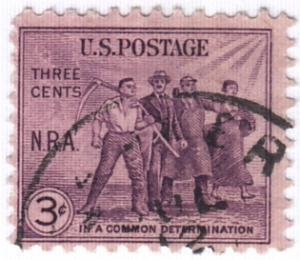 United States, Scott # 732 (1),  Used
