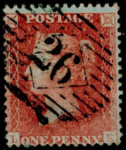 SG29, 1d red-brown, LC14, FINE USED. Cat £22. LE
