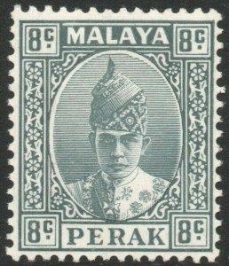 PERAK-1938 8c Grey Sg 110 MOUNTED MINT V45260