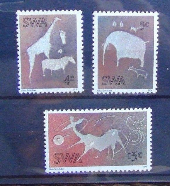 South West Africa 1974 Twyfelfontein Rock Engravings set MNH ART