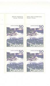Canada, 598, Seashore, Plate Block (4), MNH