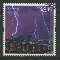 Hong Kong 1859 Used / Fine Used    Weather  Lightning - 2014 issue