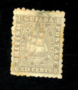 BRITISH GUIANA #62 USED F-VF Cat $90