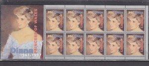 Liberia, 1998 issue. Diana, Princess of Wales, sheet of 10. ^