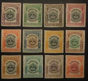 Labuan 99A-109. 1902-03 Crown