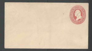 1883 U227 Mint Entire 2c Red On White Size 3 Wmk 6 Die 73
