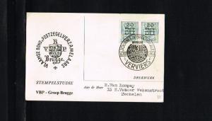 1963 - Belgium Card - Exhibitions - Philatelic exhibition - Interphil - Vervi...