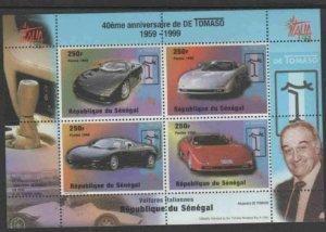 SENEGAL #1346 1998 ITALIA '98 MINT VF NH O.G SHEET 4