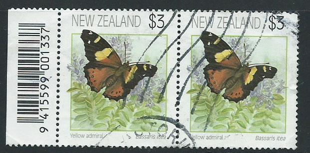 New Zealand SG 1642 Parcel used pair with Bar Code