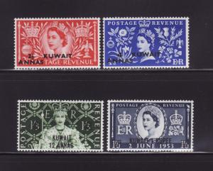 Kuwait 113-116 Set MHR Queen Elizabeth II Coronation (B)