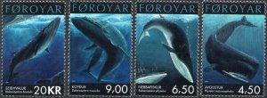 Faroe Islands 2001 #403-6 MNH. Whales
