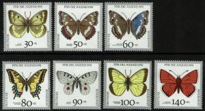 Germany B705-712 Short Set MNH - Butterflies - 1991