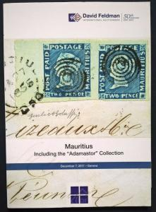 Auction Catalogue MAURITIUS ADAMASTOR COLLECTION Classic Stamps and Covers