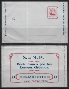 Colombia Local Medellin Postal Stationery Lettercard H&G 1 Unused