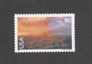 C135 Air mail Single stamp 60cent Grand Canyon AZ